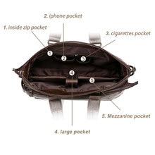 Men's Leather Briefcase PU Material 15inch Men's Shoulder Bag For Men Crossbody Bags 2019 Fashion Bussiness Briefcase handbag