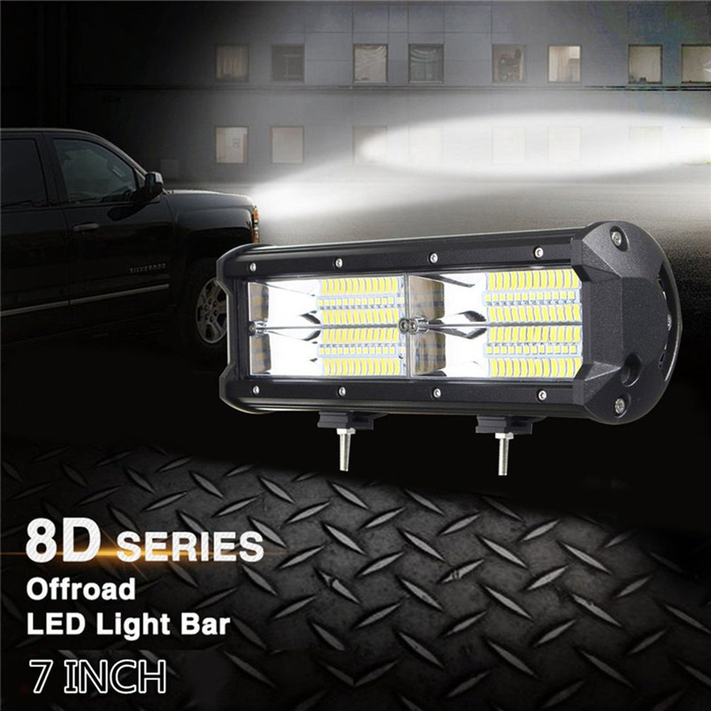 7 Inch 216W 21600LM 8D LED Work Light Bar Offroad Driving Lamp Waterproof 4WD Sports Utility Vehicle All Terrain Vehicle Lamp|Light Bar/Work Light| |  - title=