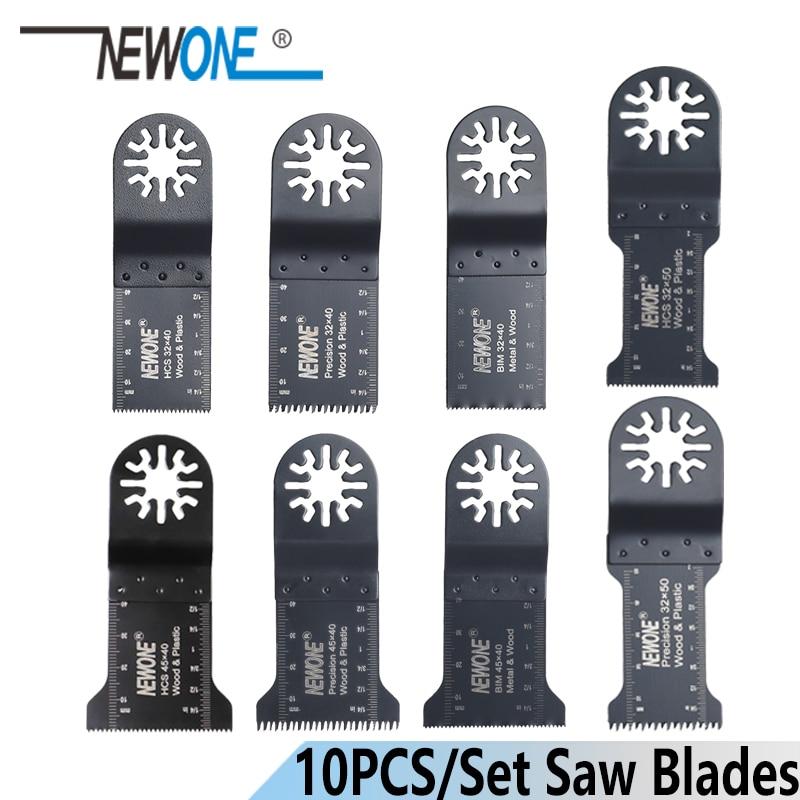 NEWONE 10pcs HCS/JANPAN TEECH/BIM 32/Length 32/45mm Oscillating Tool Multi Tool Saw Blades For Wood Metal Plastic Cutting Acces