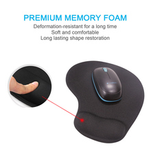 Mouse Pads 3D With Wrist Rest Support Memory Cotton Mouse Mats Hand PU Anti-slip Hand Pillow Ergonomic For Office Work 1 Pcs for of home solid memory pair oval office pads cushions gripped black chair cotton anti slip armrest