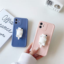 Para o iphone 12 11 pro xs max xs xr 7 8 mais caso amassável descompressão cat tpu caso macio caso do telefone