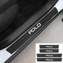 4 Pcs 자동차 도어 씰 탄소 섬유 안티 스크래치 스티커 폭스 바겐 Scirocco 제타 비틀 골프 GTD GTI Passat 폴로 Tiguan