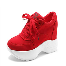 2020 Women Sneakers Mesh Casual Platform Trainers White Shoes 10CM