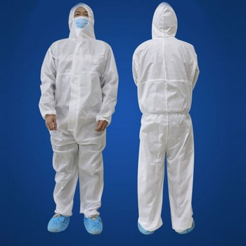 Full Body Protective Suit Disposable Isolation Gown Hazmat Protection Clothing Coverall Clothes Overalls Waterproof disposable protective clothing waterproof coverall industrial epidemic spray pesticide chemical protection asbestos work jacke