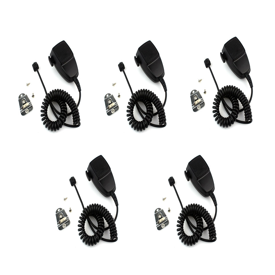 5pcs New 8-pin Speaker Mic Microphone For Motorola GM350 GM360 MAXTRAC GR1125/GR1225 Walkie Talkie J0167A