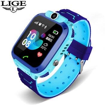 LIGE Children's Smart Watch Kid smartwatch Waterproof Baby Watches SOS Call LBS Locator Tracker Children gifts for boys girls