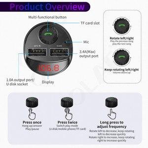 Image 5 - Olaf Bluetooth Trên Ô Tô Với Bộ Phát FM 3.4A Nhanh Dual USB Âm Thanh MP3 Người Chơi Thẻ TF Xe Hơi Xe Ô Tô sạc Điện Thoại