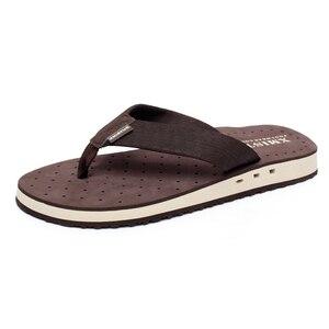 Image 3 - באיכות גבוהה החלקה גדול גודל כפכפים גברים קיץ חוף כפכפים גברים מותג אופנה לנשימה מזדמנים גברים נעלי בית שחור
