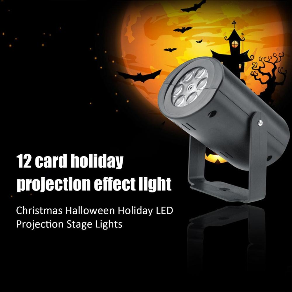 LED12 Pattern Projection Lamp Outdoor Moving Snowflake LED Laser Light Projector Landscape Xmas Garden Lamp