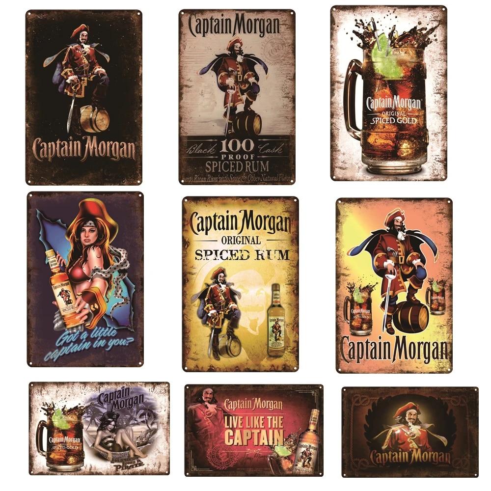 CAPTAIN MORGANS IN YOU Metal Signs Retro Shop Pub Bar Vintage Wall Poster