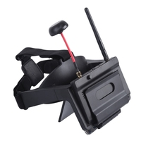 Fpv Goggles Head Wear Ar Glasses W/ Little Pilot 5 Inch Fpv Monitor Receiver for Myopia Built In Refractor for Rc Drone