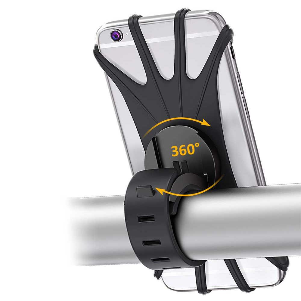 1 pièces Silicone vélo Support pour téléphone anti-dérapant vélo Support Support vélo téléphone guidon GPS Navigation Support vélo téléphone montage