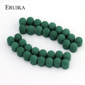 50pcs 10*15mm Green Nail Sanding Cap Foot Cuticle Drill Accessories Milling for Manicure Mills Cutter for Machines
