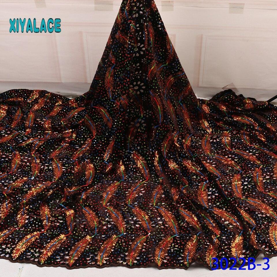 African Lace Fabric Nigerian Lace Fabrics French Switzerland Lace 2019 High Quality Lace Fabric Bridal Lace For Dress YA3022B-3