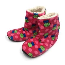 Women's Indoor Shoes Home Indoor Shoes Bee Non-Slip Soft Home Floor Shoes Woman Winter Indoor Soft Plush Boots недорого
