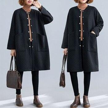 Plus size Womens Trench coat Long 2020 Spring Autumn New Korean Fashion Loose Black Windbreaker Female Outerwear 3XL