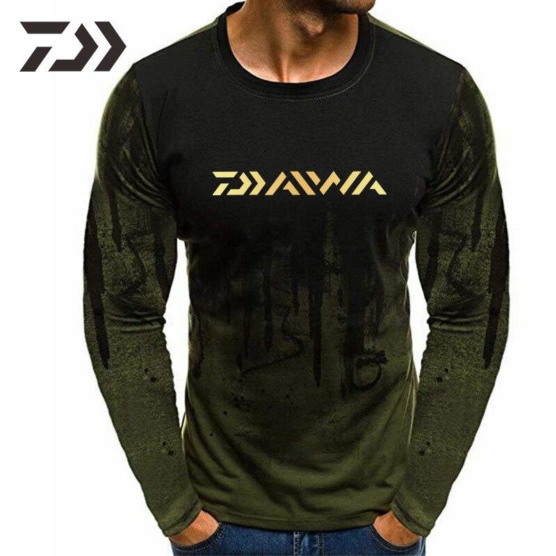 manga longa casual camisa de pesca para homem