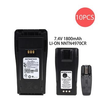 10x NNTN4497CR NNTN4970A Li-Ion Battery 1800mAh Battery for Motorola CP140 CP150 CP160 PR400 EP450 XiR P3688 2x nntn4497cr 1500mah nickel battery for motorola cp200 pr400 ep450 ep450s dep450 cp150 cp140 cp160 cp180 cp250 gp3688 gp3188