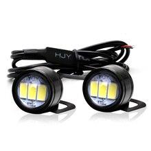 2 pçs motocicleta hawk olho lâmpada fantasma fogo lâmpada modificação componente informações hawk pedal led espelho flash hooligans lâmpada