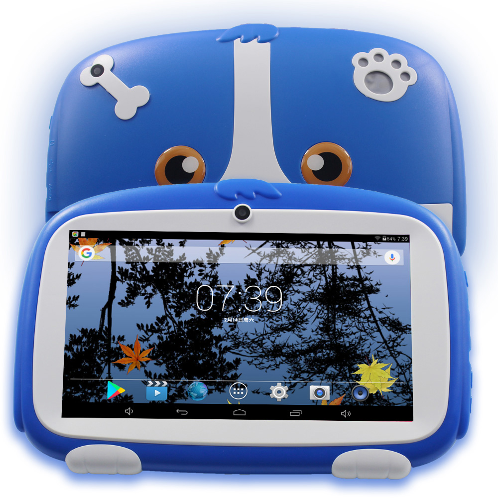 New 7 Inch Children Kids Tablets 8GB/512MB Android Kids Learning Tablet Pc WiFi Bluetooth 1024*600 Baby PAD Android Tab 10 10.1