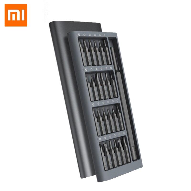 Original Xiaomi Mijia Wiha Uso Diário Kit Screwdrive 24 Xiaomi Caixa Alluminum Bits chave de Fenda de Precisão Magnética Conjunto de casa Inteligente
