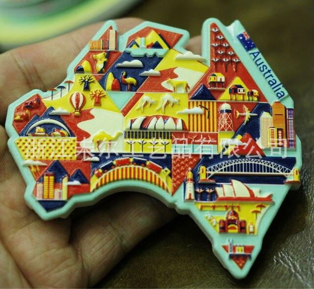 3D Resin Refrigerator Stickers World Tourism USA European  London Paris Fridge Magnet Souvenir Magnetic Home Decor Gift Ideas 3