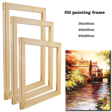 Wooden Frame Oil-Painting Numbers-Diy-Frame Canvas Wall 40x50cm Home-Decoration for by