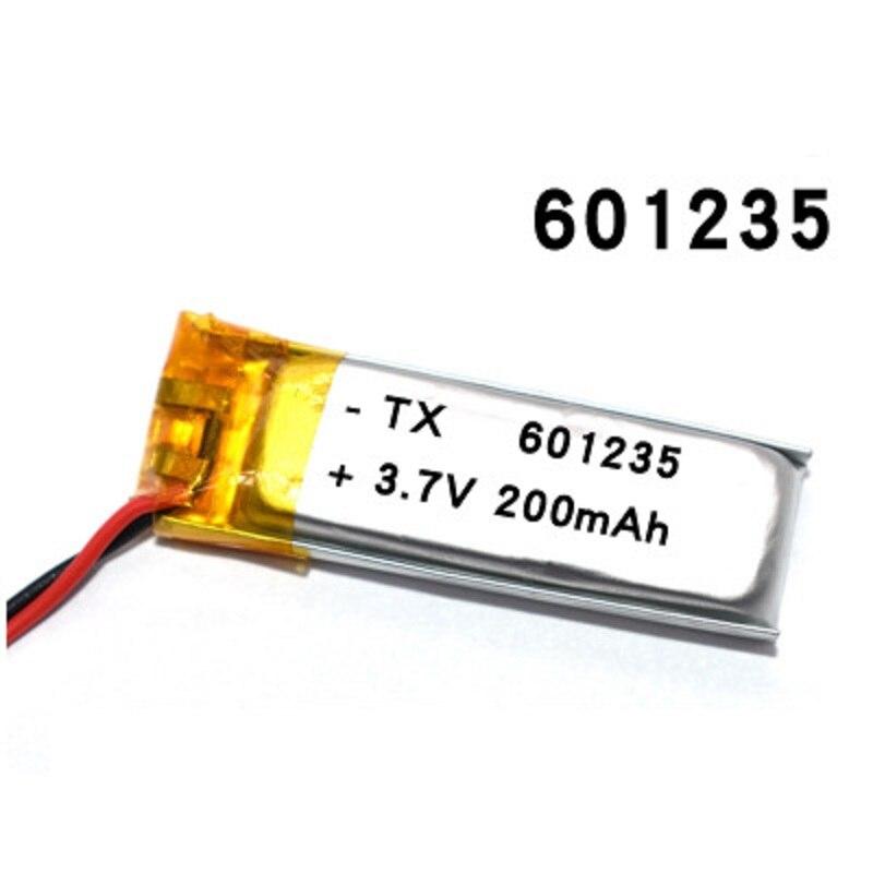 Akumulator 3.7V 200mAh 601235 bateria litowo polimerowa bateria li-po baterie litowo-jonowe dla DIY Mp3 GPS słuchawki z bluetooth zestaw słuchawkowy
