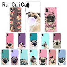 Ruicaica Pug Dog Cute Newly Arrived Phone Case Cover for iPhone X XS MAX  6 6s 7 7plus 8 8Plus 5 5S SE XR 10 ruicaica marvel avengers widow hulk iron man spider man film phone case for iphone x xs max 6 6s 7 7plus 8 8plus 5 5s se xr 10