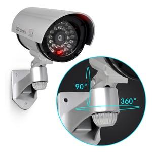 Image 2 - Sztuczna kamera manekina wodoodporna kamery monitoringu bezpieczeństwa CCTV aparat z diodą Led światła na zewnątrz kryty imitacja aparatu