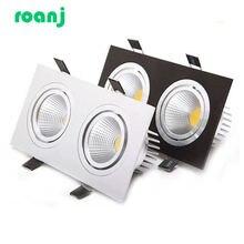 Dimmable led downlight cob spotlight ceiling light ac85 265v