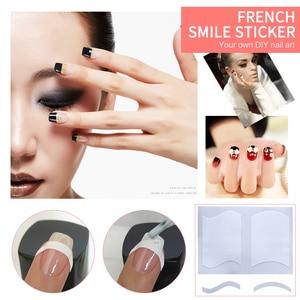 10 видов на выбор наклейки для французского маникюра Водонепроницаемый ногтей Бумага линия улыбки французский наклейки с дизайном «Улыбка»...
