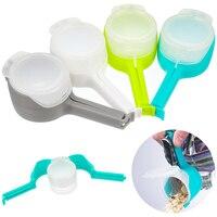 4 stücke Kunststoff Tasche Sealer Dichtung Gießen Lebensmittel Lagerung Tasche Clip Essen Dicht Clip Wirkung Clamp Küche Werkzeuge