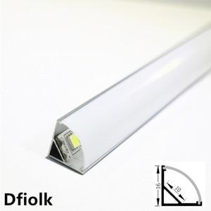 Image 1 - Profilé en aluminium pour bande led, 10 20 pièces, DHL1m, pcb 10mm, 5050, 5630, boîtier en aluminium, canal avec couvercle et clips