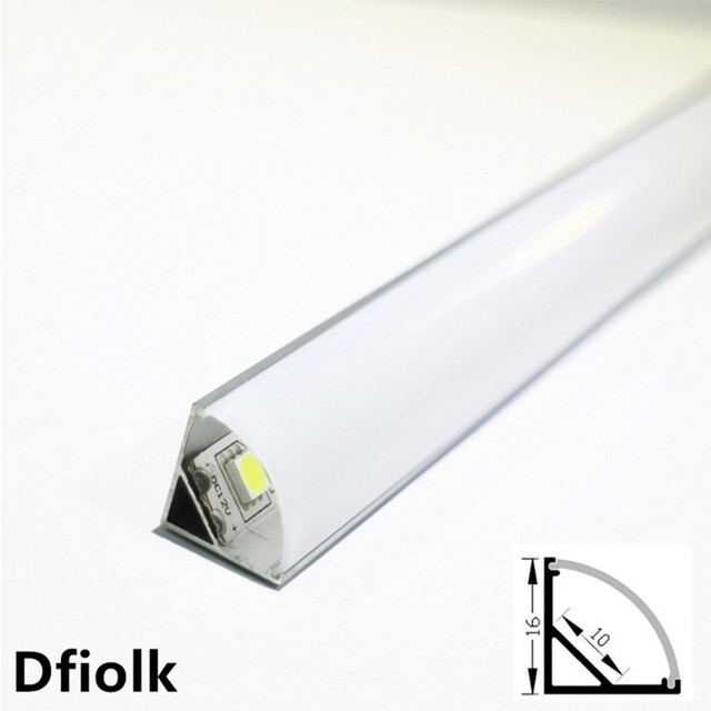 Profilé en aluminium pour bande led, 10 20 pièces, DHL1m, pcb 10mm, 5050, 5630, boîtier en aluminium, canal avec couvercle et clips