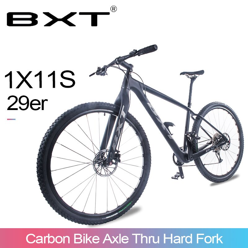 "BXT Mountain Bike 29er T800 Carbon MTB Bike Frame 11 Speed Carbon MTB Bike S/M/L Complete Carbon Bicycle Bike 29*2.1"" Wheel"