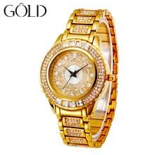 GOLD famous brand ladies watch luxury gold watch ladies waterproof original design gift commemorative fashion watch