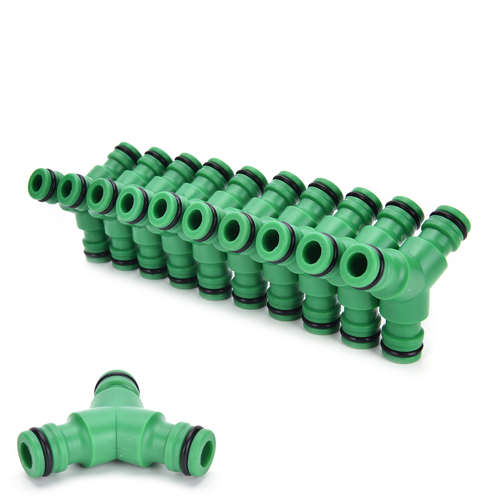 3-Way Coupling Hose Connector Hose End Fittings Garden Watering Hose Coupling Triple Male Quick-Click Adapter