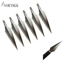 6pcs Archery 158 Grain Arrow Head Hunting Stainless Steel Broadhead Traditional Arrowhead For Outdoor Accessories
