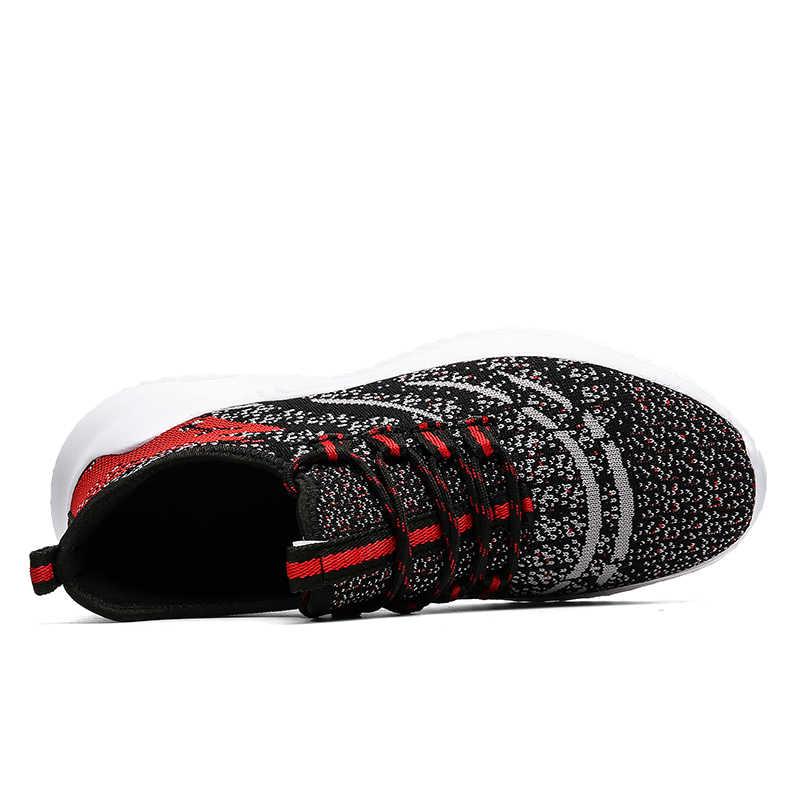 ผู้ชายตาข่ายรองเท้า Breathable น้ำหนักเบารองเท้าบุรุษรองเท้าผ้าใบสบายๆสบายๆ Lace Up รองเท้าผู้ชายขนาดใหญ่ใหม่แฟชั่น 2020