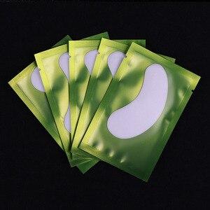 Image 3 - 50 parches de papel para pestañas, almohadillas para ojos para pestañas parches de papel de extensión de pestañas pegatinas para puntas de ojos envolturas herramientas de maquillaje