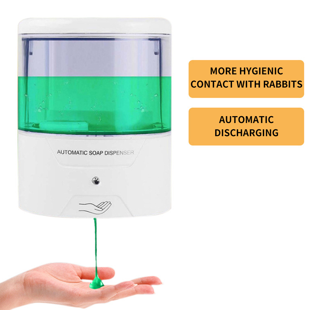 650ml Automatic Liquid Soap Dispenser Smart Sensor Touchless ABS Electroplated Sanitizer Dispensador For Kitchen Bathroom