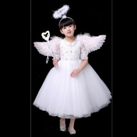 Adult Child Angel Feather Wings Photo Prop Stage Show Halloween Costume Wedding Party Supplies Kid Birthday Gift Decors