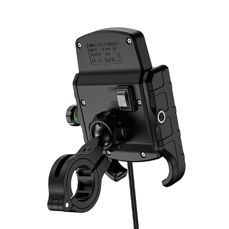 Image 2 - Waterproof 12V Motorcycle Phone Qi Fast Charging Wireless Charger Bracket Holder Mount Stand for iPhone Xs MAX XR X 8 Samsung-in Phone Holders & Stands from Cellphones & Telecommunications