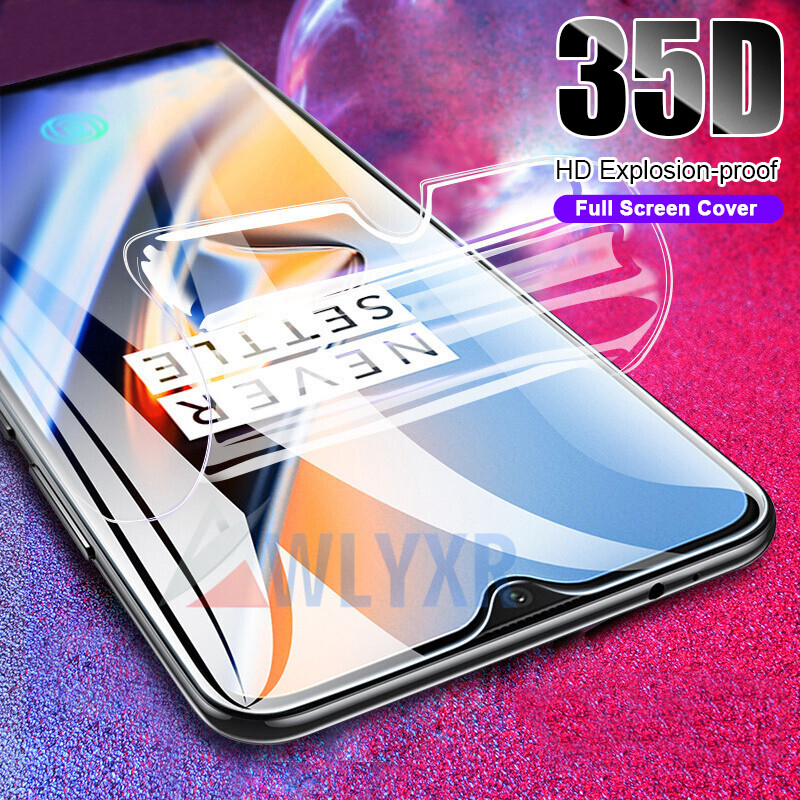 Full Protective Soft Hydrogel Film For Oneplus 6 5t 5 6T Cover Screen Protector oneplus 7 7Pro 35D (Not Glass)