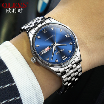 OLEVS, автоматические часы, мужские, водонепроницаемые, с календарем, неделя, мужские, s, механические часы, Лидирующий бренд, Роскошные наручны...