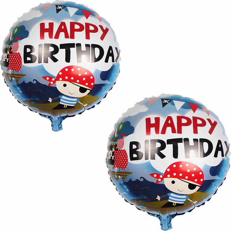 1pcs 18 นิ้ว Corsair ฟอยล์บอลลูน Sea Rover Theme บอลลูนโจรสลัดเรือ Happy Birthday PARTY เทศกาลตกแต่งเด็กของเล่น