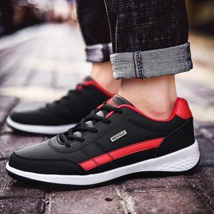 Image 5 - Спортивная обувь из искусственной кожи, мужские кроссовки для бега, Спортивная мужская обувь для бега, белые кроссовки, обувь для бега, A 374