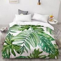 3D Digital Printed Plant Duvet Cover Quilt/Quilt/Blanket Box Queen/King Leaf Bedding 220x240/200x200/140x200
