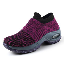 Sock Sneakers Running-Shoes Sports Fashion Platform-Air-Cushion Mesh Breathable Women